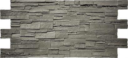 Piedra 3D Wandpanelen Grijs